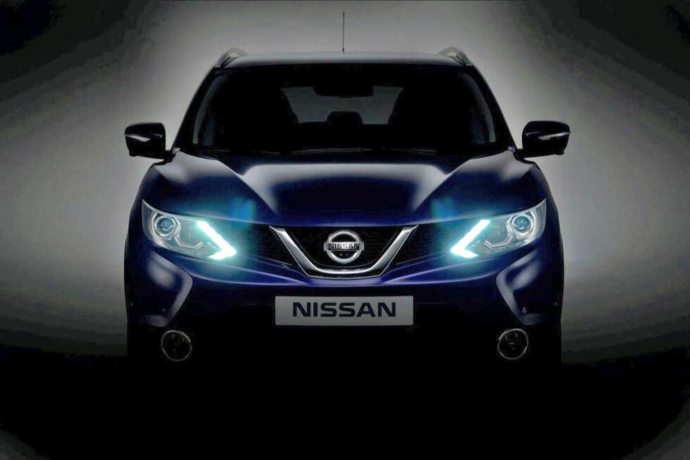 STRENG FRONT: Vi synes nye Qashqai har en klart mer markert personlighet enn dagens modell. Foto: Nissan