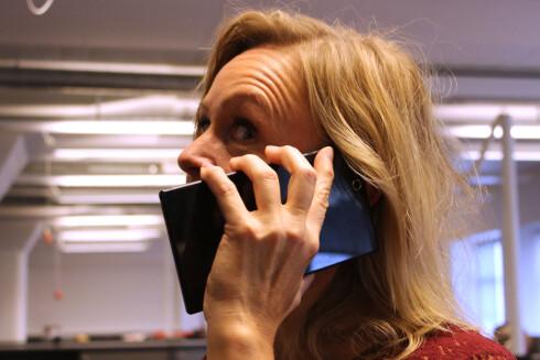 <strong>HALLO:</strong> Slik ser du ut når du snakker i Sony Xperia Z Ultra.  Foto: OLE PETTER BAUGERØD STOKKE