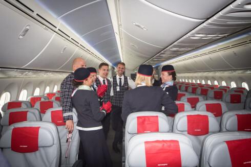 3+3+3 hos Norwegians Dreamliner. Foto: Gaute Beckett Holmslet