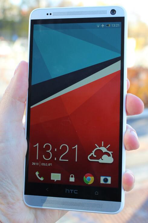 LEKKERT: HTC One Max kjører Sense 5.5. Nyhetene er ikke mange i daglig bruk, men Sense ser fortsatt bra ut, synes vi.  Foto: Ole Petter Baugerød Stokke
