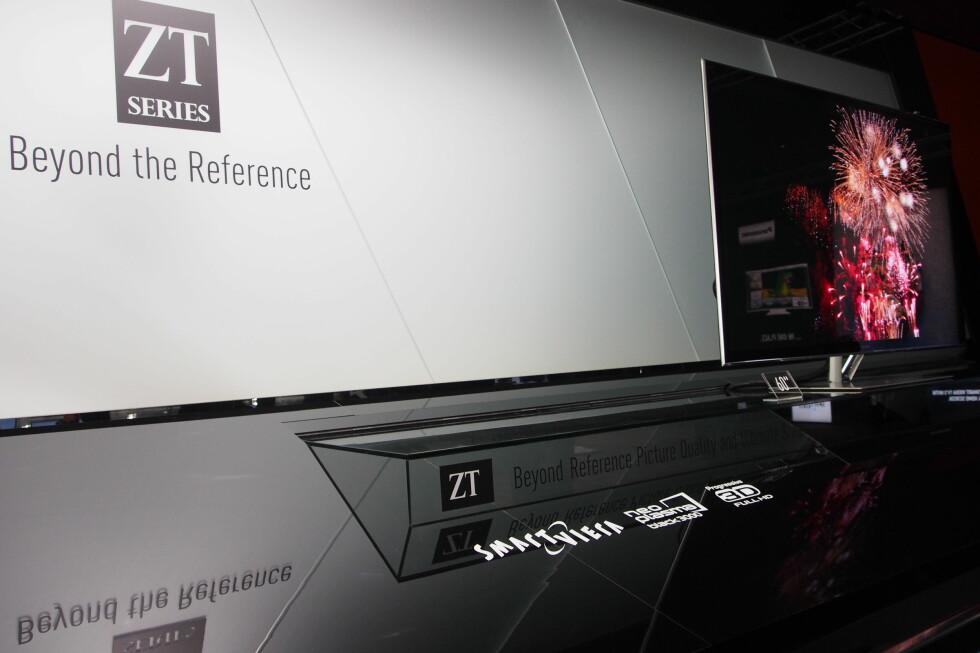 DEN BESTE OG SISTE TOPPMODELLEN: ZT-modellen til Panasonic ble altså den siste toppmodellen med plasma-teknologi.  Foto: Øyvind Paulsen