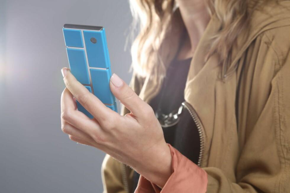 LEGO-TELEFON: Er dette fremtidens smartmobil? Det vil i hvert fall Motorola ha oss til å tro. Foto: Motorola