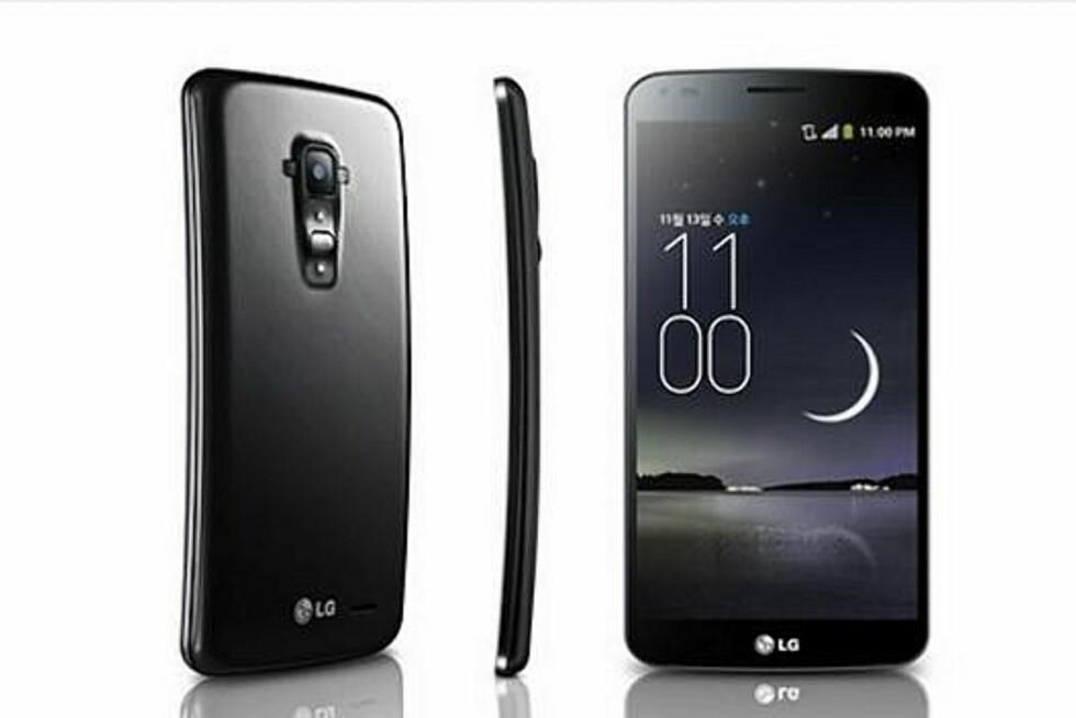 OLED-skjermer gjør det enklere å lage buede mobiler. Her er LG sitt første bidrag. Foto: LG