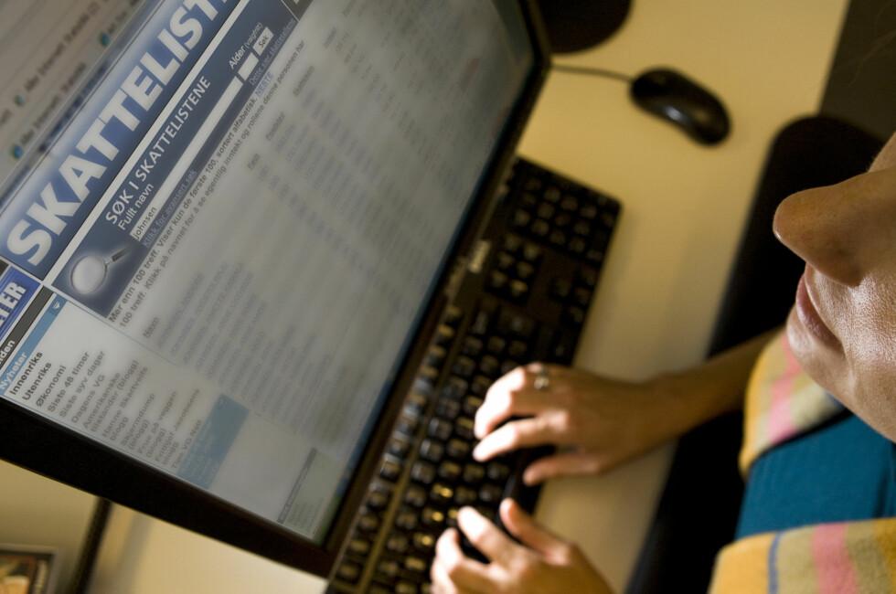 Når du søker i skattelistene er det nettoinntekten som fremkommer. Med DinSides nysgjerrigperkalkulator finner du den virkelige inntekten. Foto: Per Ervland