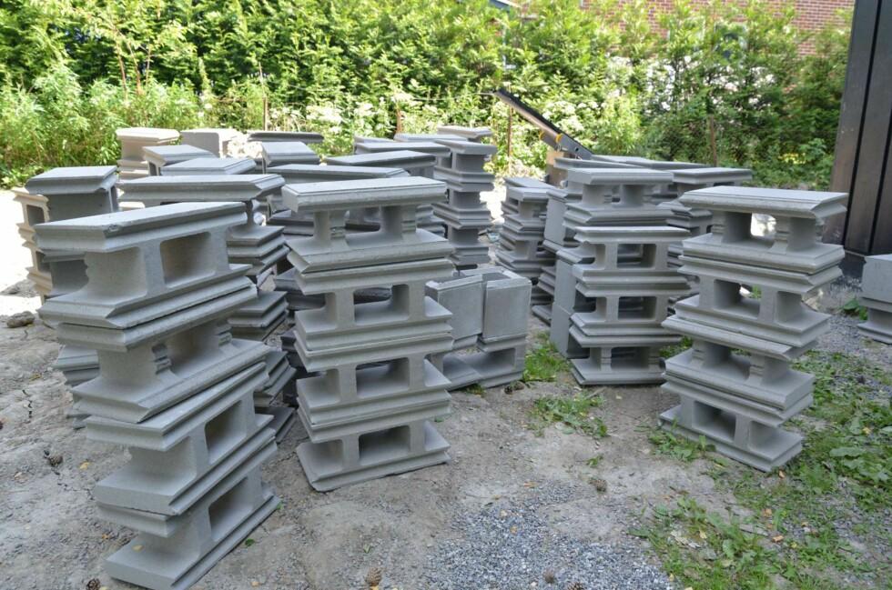 Forskalingsblokker - nesten like enkelt som byggeklosser. Foto: Brynjulf Blix