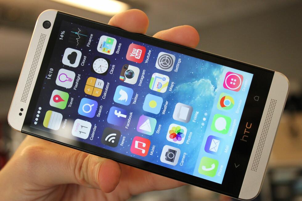 Har du en HTC One, men skulle ønske den så mer ut som iPhone?  Foto: Kirsti Østvang