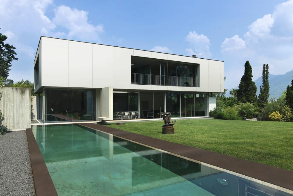 Slik forestiller Cosentino at Dekton kan brukes, som fasade på moderne hus. Foto: cosentino