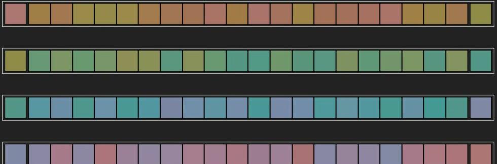 Klarer du å plassere fargeflisene i riktig rekkefølge? Får du 0 poeng har du perfekt fargesyn.