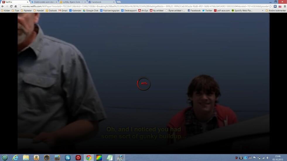 Det trådløse nettverkskortet hadde litt problemer med å streame HD-video fra Netflix uten å stoppe opp og bufre innimellom. Vi sammenlignet med to andre PC-er som hadde trådløskort fra Intel, fra samme plassering. De hadde ikke noen problemer med å fore maskinen med jevn datastrøm. Problemet forsvant imidlertid når vi plasserte oss nærmere aksesspunktet.