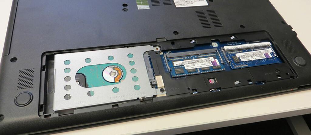 Lett å få tilgang til harddisk og minnebrikker. Foto: Bjørn Eirik Loftås