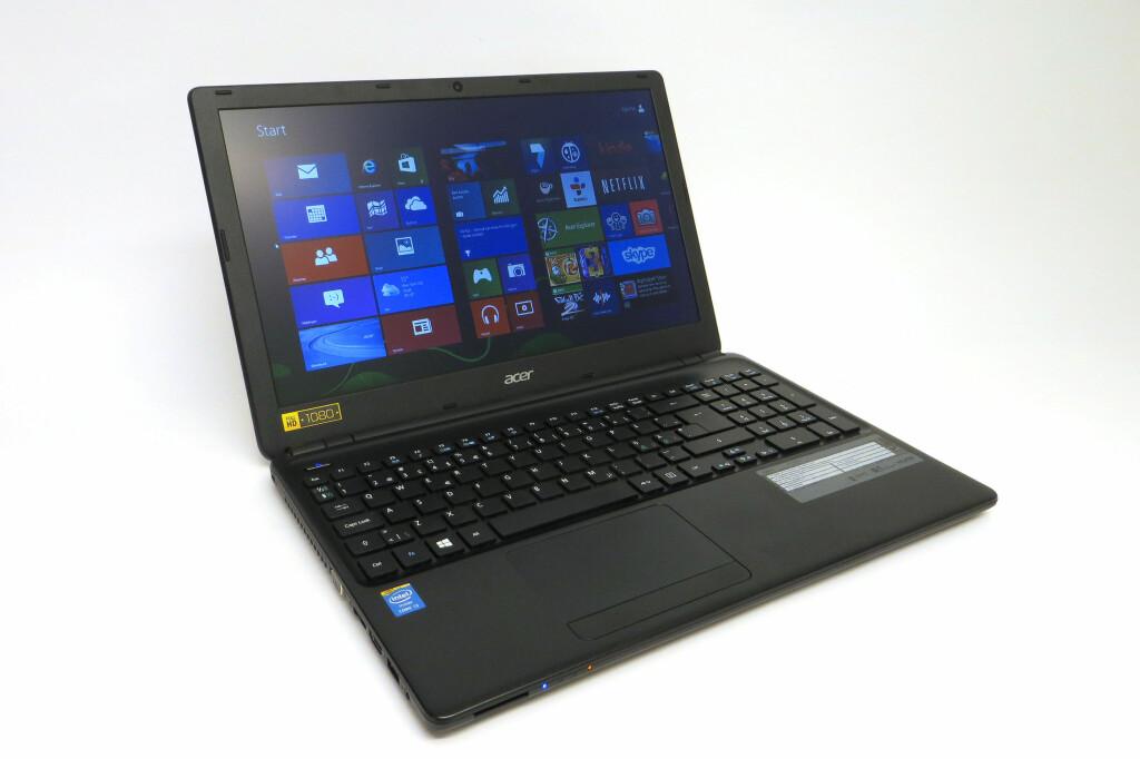 Acer Aspire E1-572 er en rimelig inngangsbillett for deg som ønsker en PC med full HD-skjerm. Foto: Bjørn Eirik Loftås