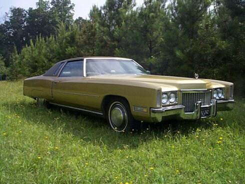 Cadillac Eldorado var en svær luksuskupé - her en 570 centimeter lang 1972-modell. Foto: Wikimedia Commons