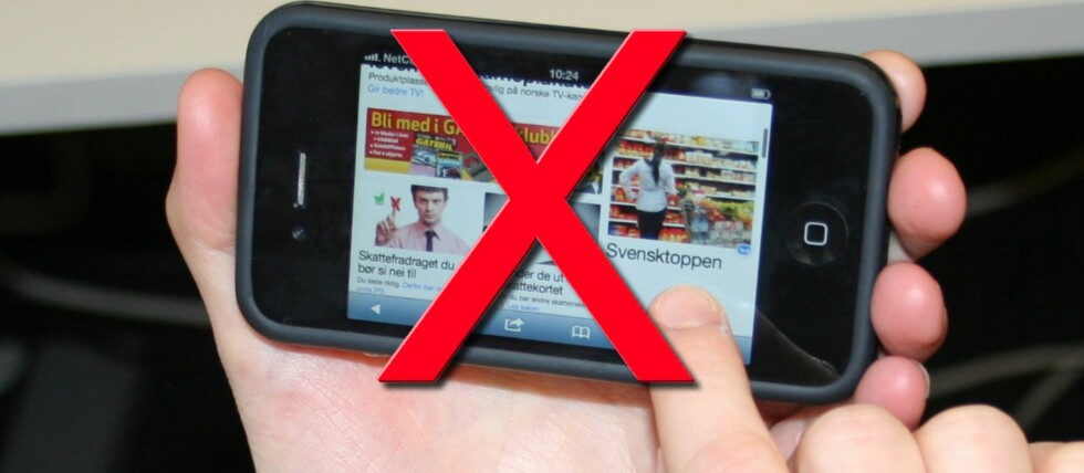 Glem drømmen om fri datatrafikk på mobilen, i hvert fall inntil videre. Foto: DinSide.no
