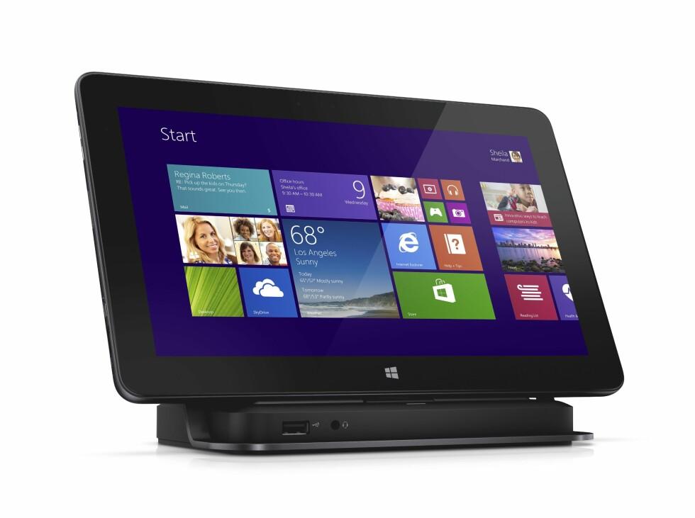Dell Pro 11 Windows 8.1 11-tommer nettbrett med dokk.