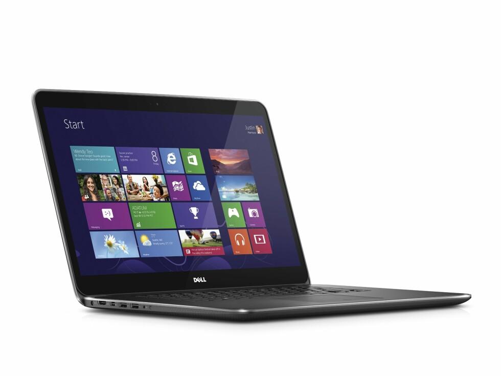Dell XPS 15 har fått en skjermoppløsning som er nesten tre ganger høyere enn full HD. Foto: Dell