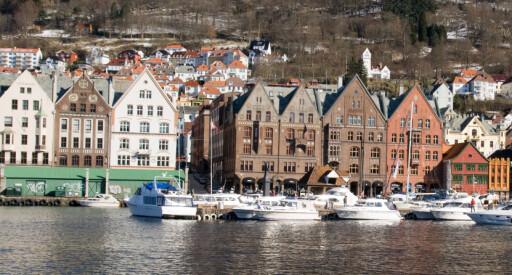 Bergen er blant byene som har høyt trykk om dagen. Her tar det i snitt bare 15 dager før boligene blir solgt.  Foto: Colourbox