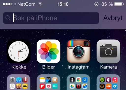 Leter du etter noe på telefonen din? En tekstmelding, en app eller en kontakt? Foto: Kirsti Østvang
