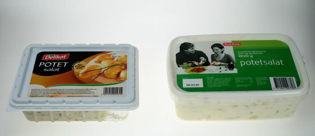 IKKE SORT/HVITT: Selv om First Price er billigere enn Delikat, kan du ikke dømmes for hvilken du velger.  Foto: Hanne Marie Aabel