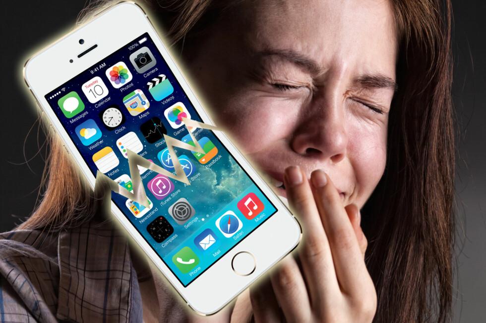 OPPDATERINGSBLUES: Ser du sånn ut etter å ha oppdatert til iOS 7? Da er du kanskje ikke alene. Foto: Colourbox/Apple/DinSide