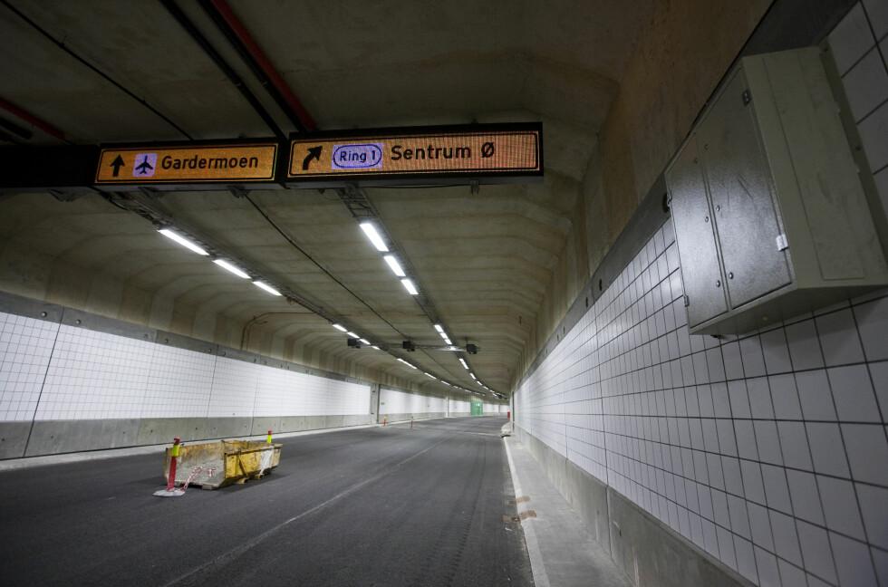 DinSide besøkte Bjørvikatunnelen før den var ferdig. Da var ikke fotoboksen klar med hull. Det er den nå. Men tunnelmålerne kan også se ut som de mer velkjente fotoboksene fra landeveien. Foto: Per Ervland
