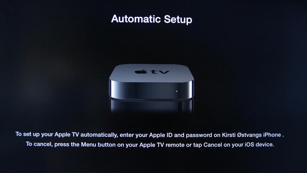 image: Enklere oppsett av Apple TV