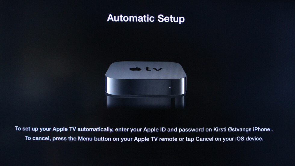 Enklere oppsett av Apple TV