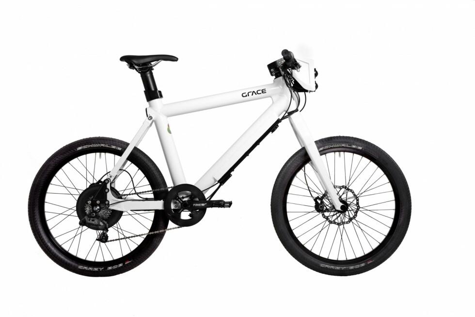 MOPED: Det ser ut som en vanlig el-sykkel, men denne er altså ikke lov til å bruke på sykkelstier.  Foto: Grace/Evo Konsept