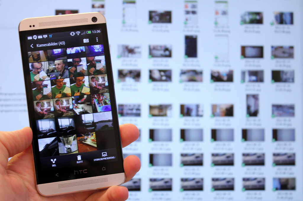 DETTE BØR DU GJØRE: Ikke la de mange bildene du tar med smarttelefonen bli liggende på mobilen - overfør dem til pc-en så ofte det lar seg gjøre. Da sørger du for at de aldri blir borte. Foto: Kirsti Østvang