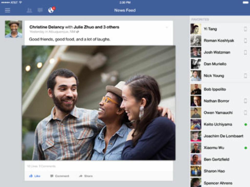 image: Facebook oppdatert for iOS 7