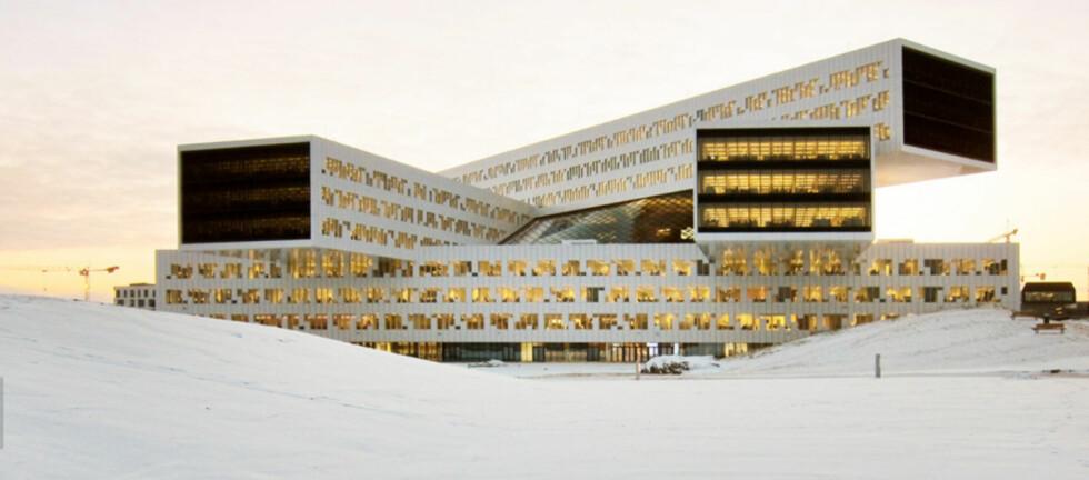Statoilbygget på Fornebu har vunnet en rekke priser, men det er ikke hvem som helst som slipper inn til daglig. Men i helgen er alle invitert.  Foto: Luis Fonseca