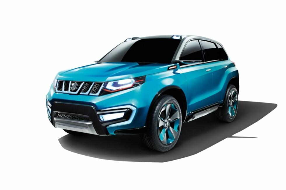 KONSEPT: I fjor viste Suzuki denne konseptbilen, iV4, som vi ser på dette og de neste bildene. Heldigvis ser det ut til at nykommeren blir temmelig lik konseptbilen, for en gangs skyld. Foto: SUZUKI