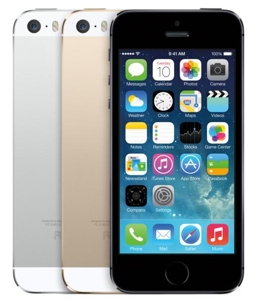 Høy blingfaktor på Apples nye toppmodell. Gullversjonen vil kanskje slå aller best an blant kvinner - eller? Foto: APPLE