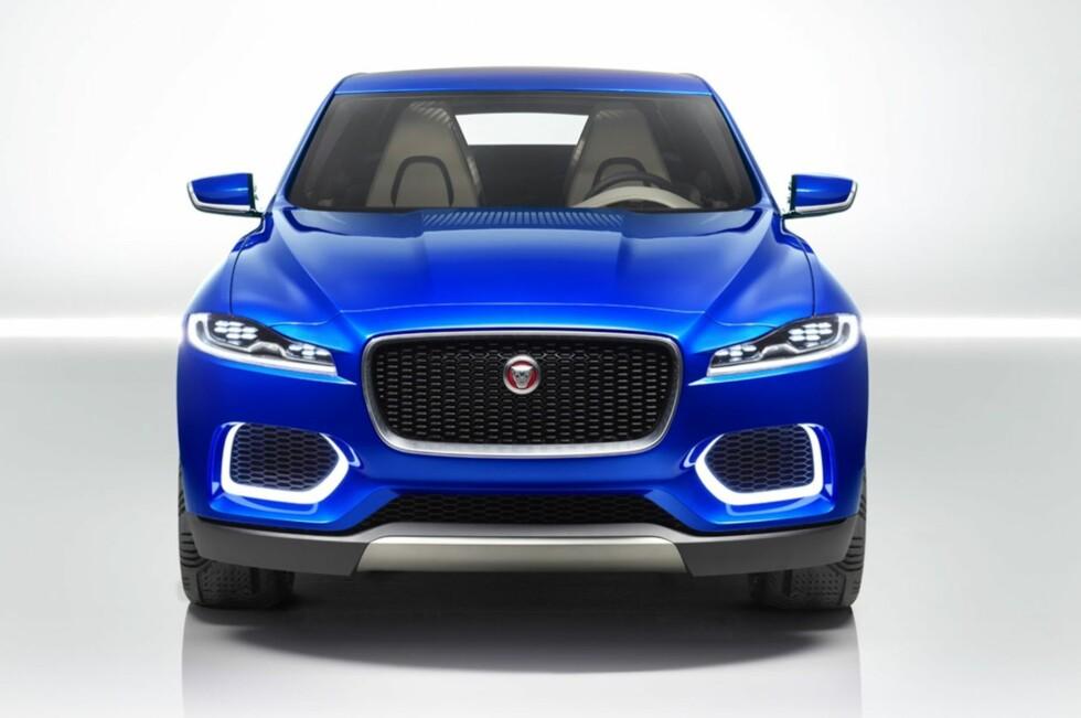 Slik ser det ut, bildet som har lekket ut på nettet. C-X17 Crossover Concept skal den visstnok hete, den første SUV-en fra Jaguar, som skal vises som konseptbil på Frankfurt-utstillingen. Foto: JAGUAR