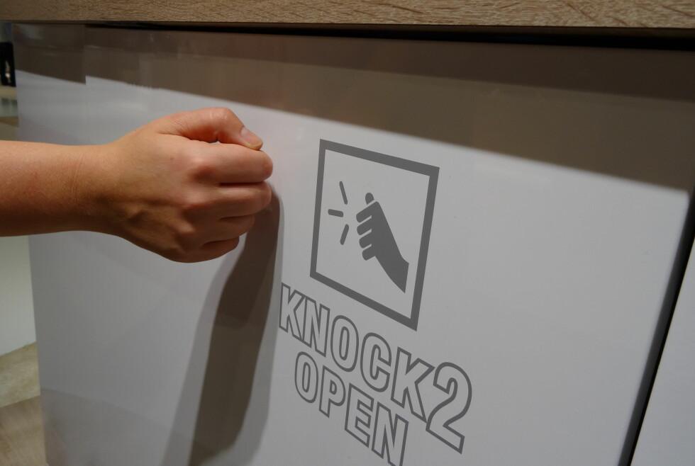 Bank på Mieles nye oppvaskmaskin når du vil åpne den.  Foto: Per Ervland