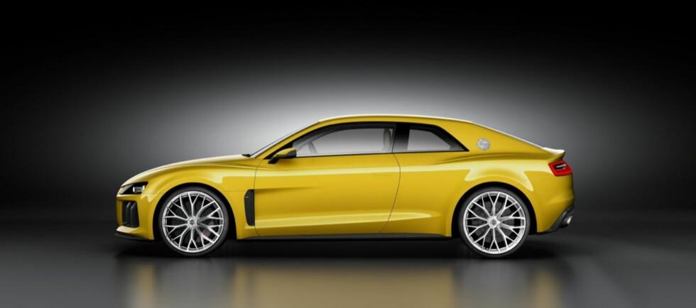 Hele 700 hestekrefter kan nye Audi Quattro skilte med. I det minste i form av Audi Sport Quattro Concept, som er versjonen som vil bli vist på bilutstillingen i Frankfurt. Foto: Audi