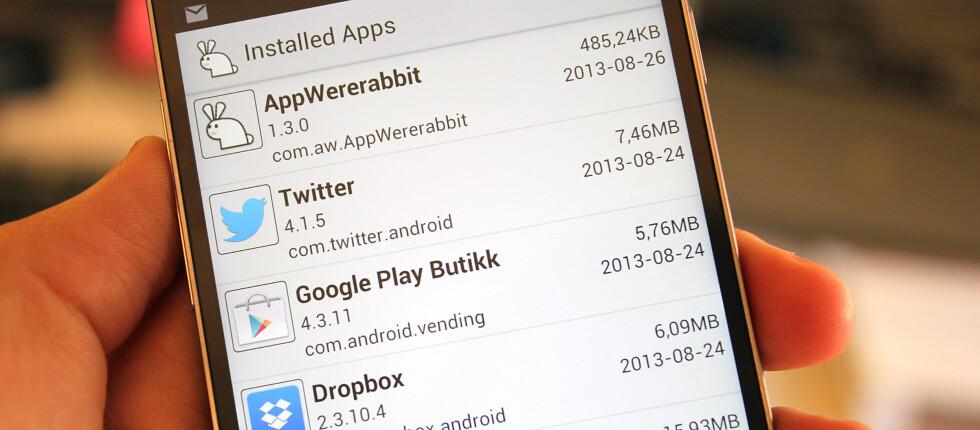 Var alt mye bedre før? AppWererabbit er appen som enkelt kan ta vare på de gamle Android-appene for deg.  Foto: Kirsti Østvang