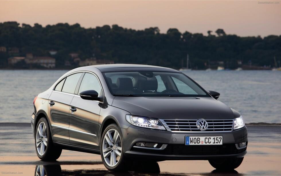 """Slik ser dagens VW CC ut. """"Passat"""" er ellers ikke en del av modellnavnet på dagens generasjon. Foto: VW"""