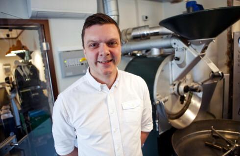 Tim Wendelboe, prisbelønt barista, kaffebrenner, kaféeier, kaffebokforfatter og kaffekursholder. Foto: Per Ervland
