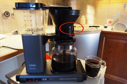 Det er ikke bare nye kaffetraktere som lar deg regulere åpningen i filterholderen. Moccamaster gir deg tre valg; hel, halv eller ingen åpning. Foto: Øyvind Paulsen