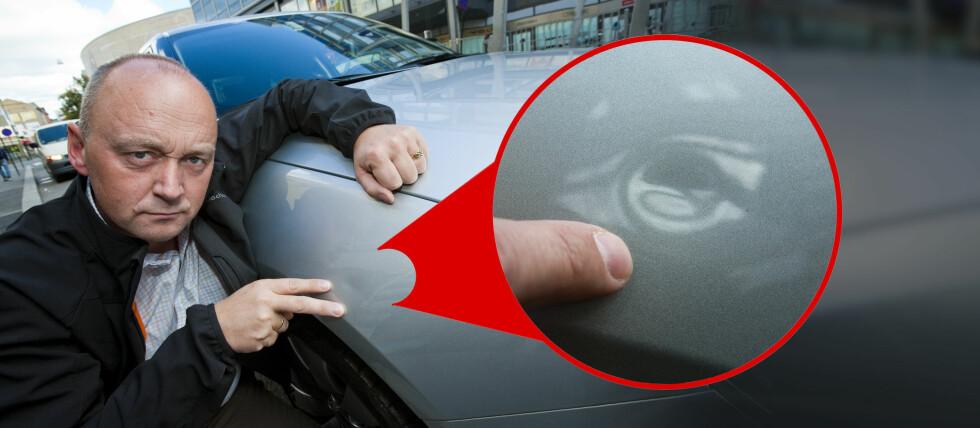 Har noen bulket bilen din og stukket av uten å legge igjen navn og nummer, er det du som må ta hele regninga. Det er surt. Nå innfører Tryg en ny dekning i bilforsikringen Bil Ekstra - slik at du i alle fall slipper bonustap på slike skader. Foto: Per Ervland