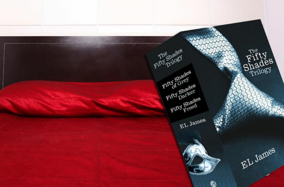 Den heftige trilogien Fifty Shades er tydeligvis en hyppig reisepartner. Foto: Colourbox.com/Forlaget