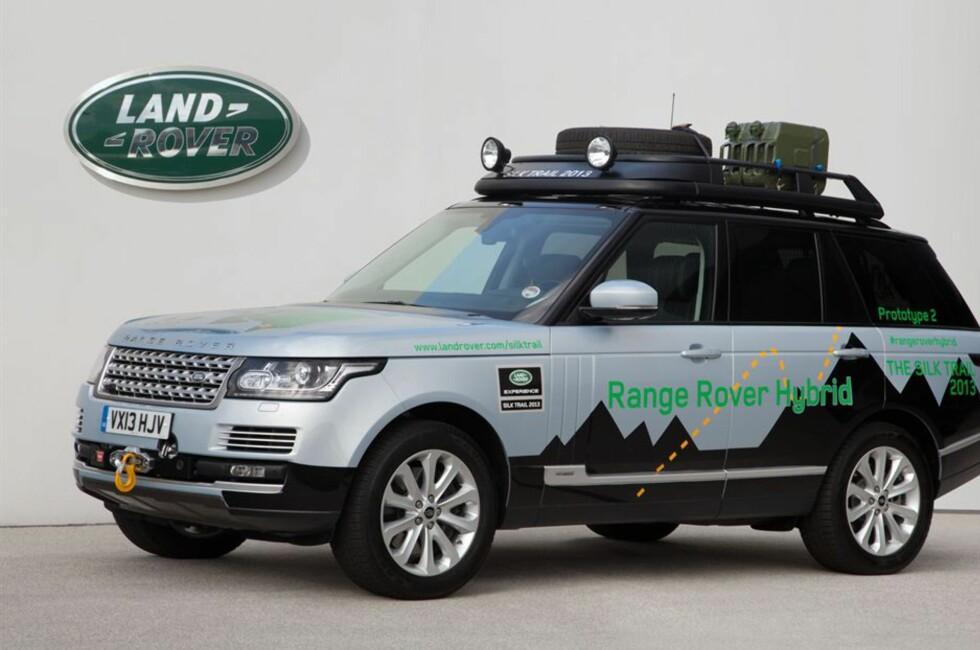 Range Rover Hybrid vil bli vist fram for førte gang nå i september. Det vil si at den kommer til salgs i Norge tidlig i 2014. Foto: Produktbilder