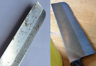 Slik fjerner du rust fra kniven