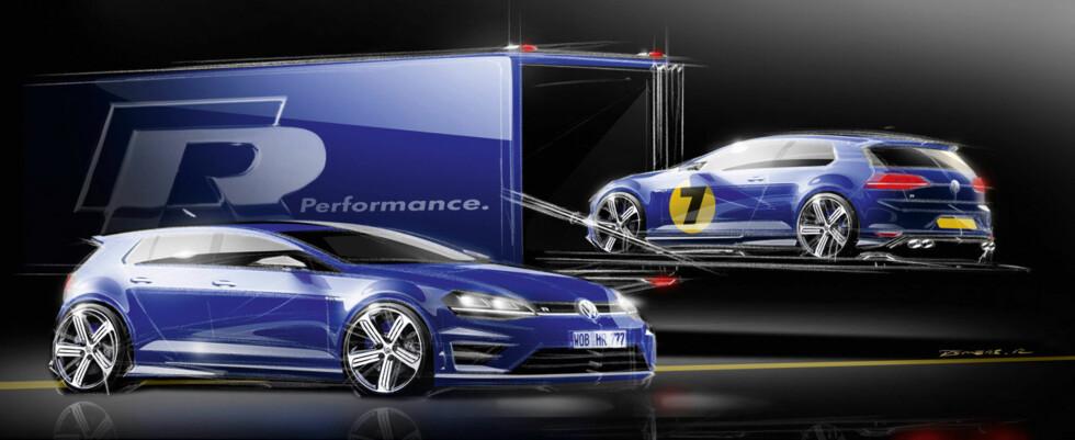 VW Golf R: Med dette teaserbildet kan det være at VW forsøker å fortelle oss at de har skumle planer med den nye R-modellen.