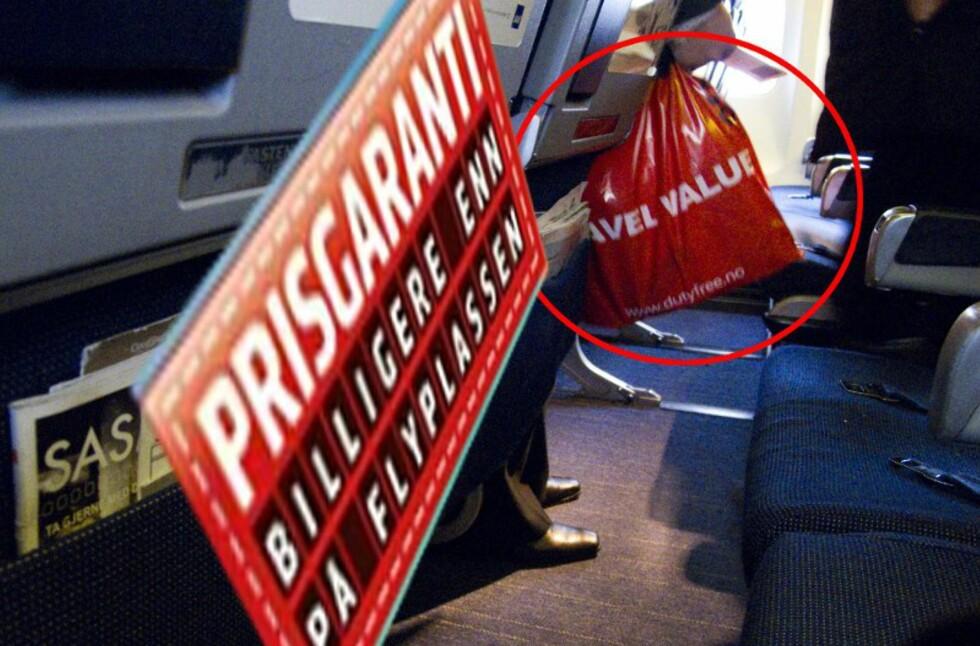 Finner du den samme varen billigere på flyplassen enn i ombord-butikken på flyet, kan du få opptil dobbel prisforskjell tilbake. Foto: Per Ervland/Kristin Sørdal