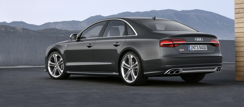 Audi S8 har alltid vært en spenstig sak.  Foto: Audi