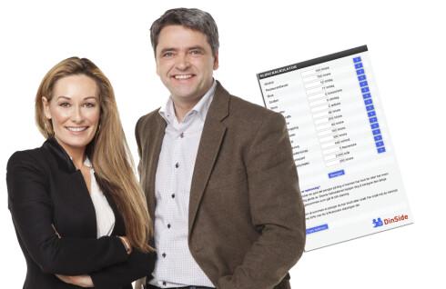 """DinSides //"""">sløsekalkulator er et verktøy som brukes flittig i programmet Luksusfellen. Foto: TV3/DinSide"""
