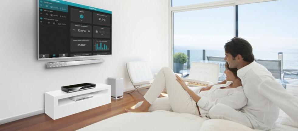 Panasonics smarte Viera TV-er gir deg mulighet til å kontrollere Panasonics varmepumper. Foto: Panasonic