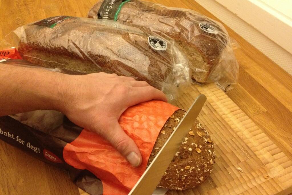 Det er helt greit å kjøpe flere brød i samme slengen. Men da bør du ha plass i fryseren, slik at du kan ta opp etter behov.  Foto: TUVA MOFLAG
