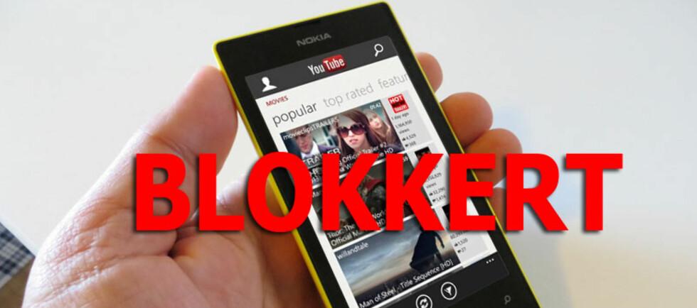 Google er ikke fornøyd med Microsofts forsøk på å lage en YouTube-app for Windows Phone. Foto: Loftås, DinSide.no